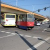 Kolizja tramwaju i autobusu w centrum Bydgoszczy!