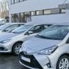 KWP w Bydgoszczy otrzymała nowe samochody hybrydowe oraz patrona