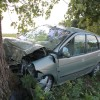 Pijana 23-latka wioząca autem dwoje dzieci, uderzyła w drzewo