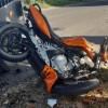 Poważny wypadek w regionie. Motocyklista zderzył się z ciągnikiem rolniczym