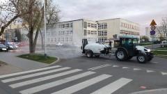 Dezynfekcja ulic i chodników w kujawsko-pomorskim [WIDEO]