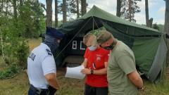 Gorące tematy - Obóz w Krówce Leśnej pod kontrolą straży i policji