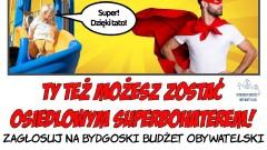 Plakat promujący głosowanie w Bydgoskim Budżecie Obywatelskim wybrany