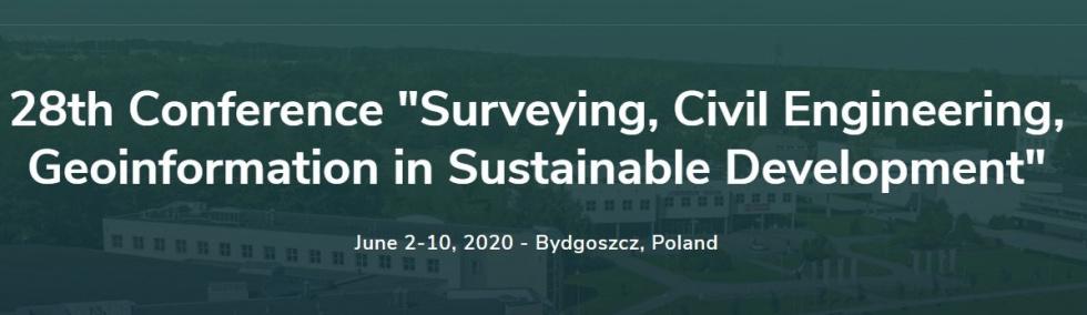 28. edycja konferencji geodezyjnej – SCEGeo 2020 w Bydgoszczy
