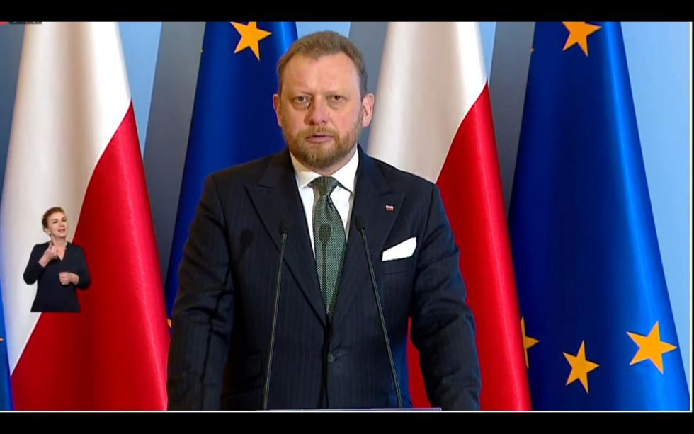 B. minister zdrowia Łukasz Szumowski w szpitalu z objawami koronawirusa