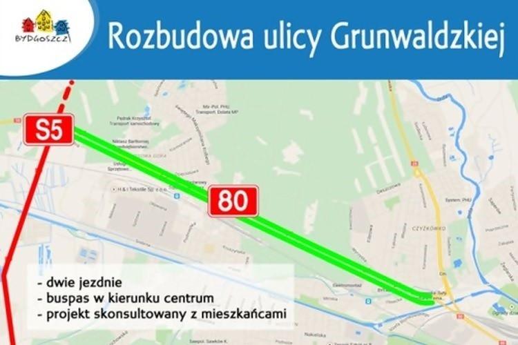 Blisko 76 mln złotych na rozbudowę ulicy Grunwaldzkiej
