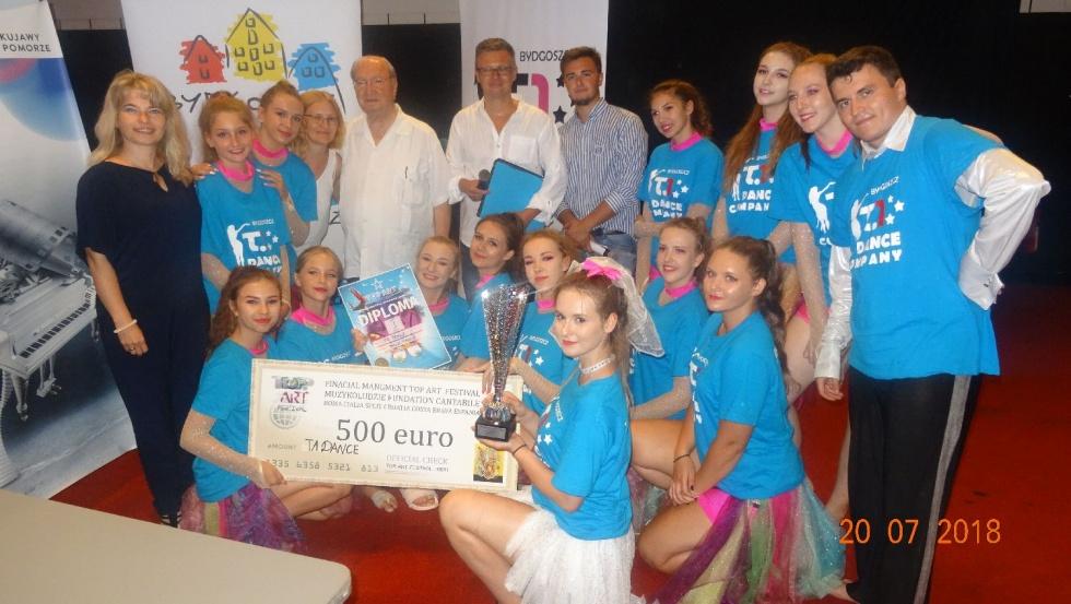 Bydgoska grupa taneczna T.1 DANCE z nagrodą na Międzynarodowym Festiwalu