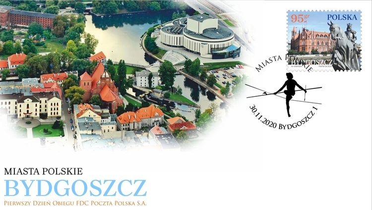 Bydgoszcz na znaczku Poczty Polskiej