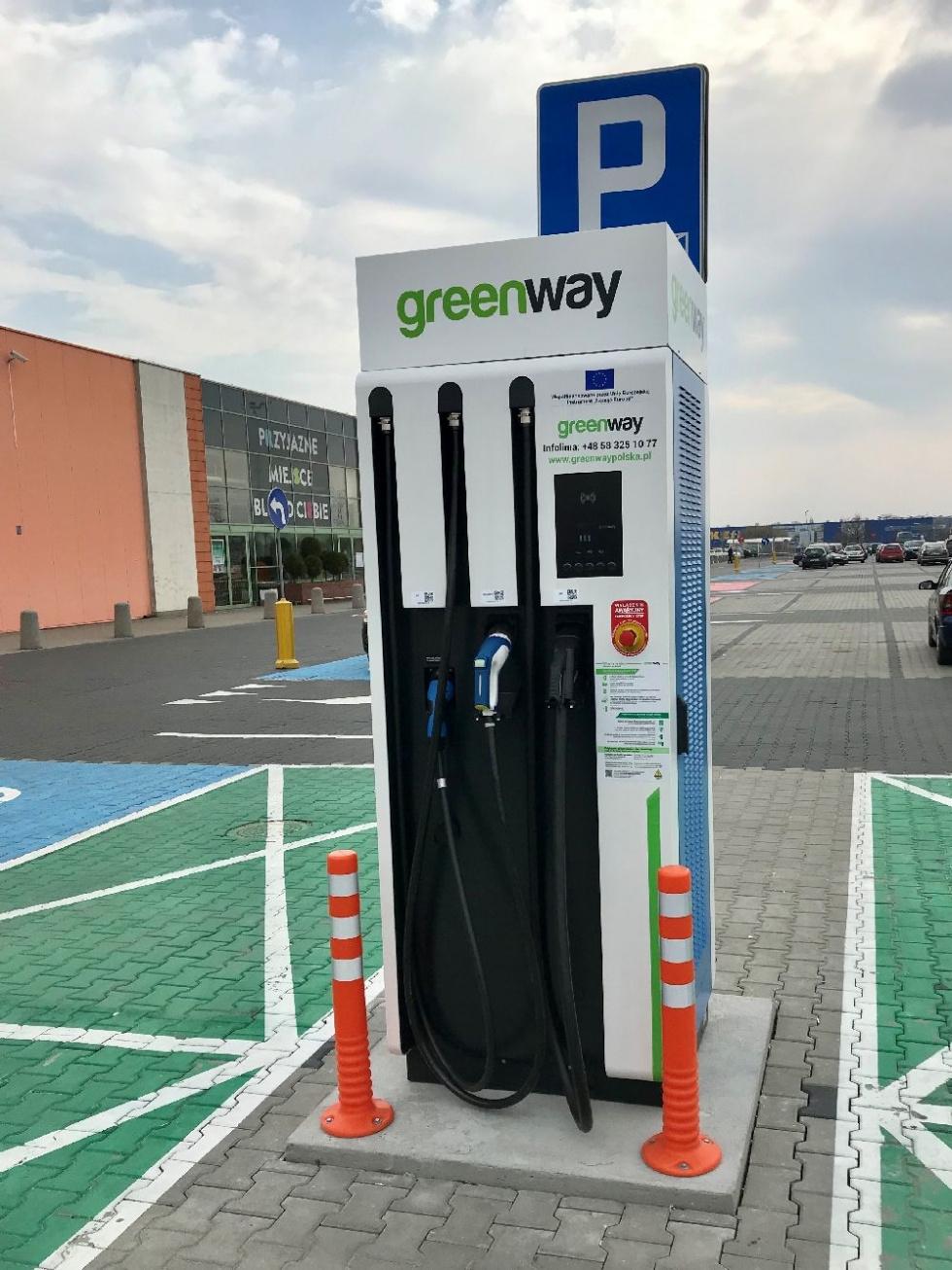 Coraz więcej ładowarek elektrycznych dla samochodów w Bydgoszczy