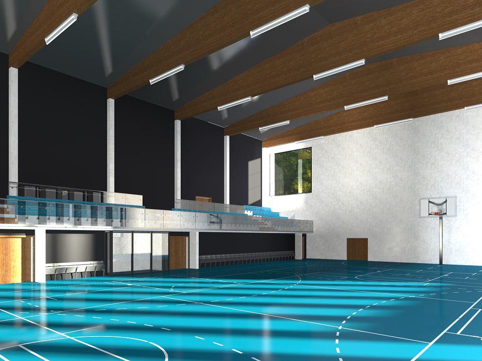 Elektronik wkrótce będzie miał nową halę sportową. Trwa budowa
