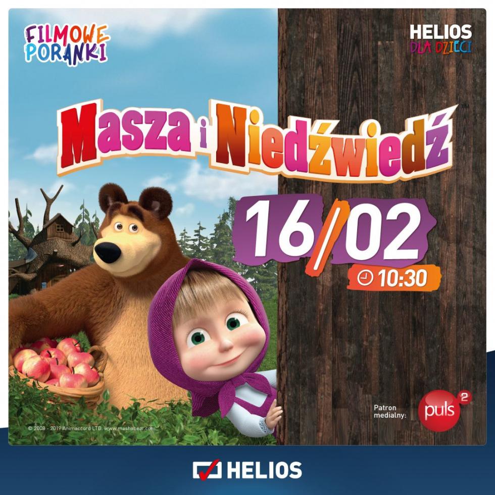 Filmowe Poranki: Masza i Niedźwiedź w kinie Helios