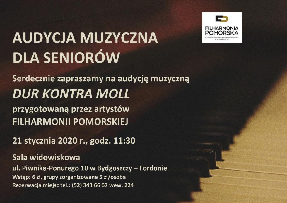Muzyczna audycja artystów Filharmonii Pomorskiej dla seniorów