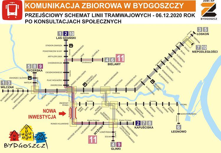 Od 6 grudnia zmiany w bydgoskiej siatce połączeń komunikacji miejskiej. Ma być szybciej i wygodniej