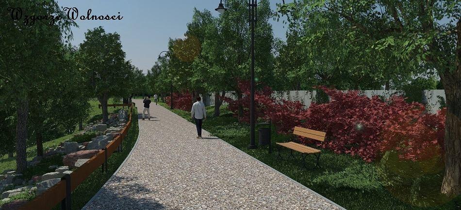 Park na Wzgórzu Wolności będzie zachęcał do spacerów