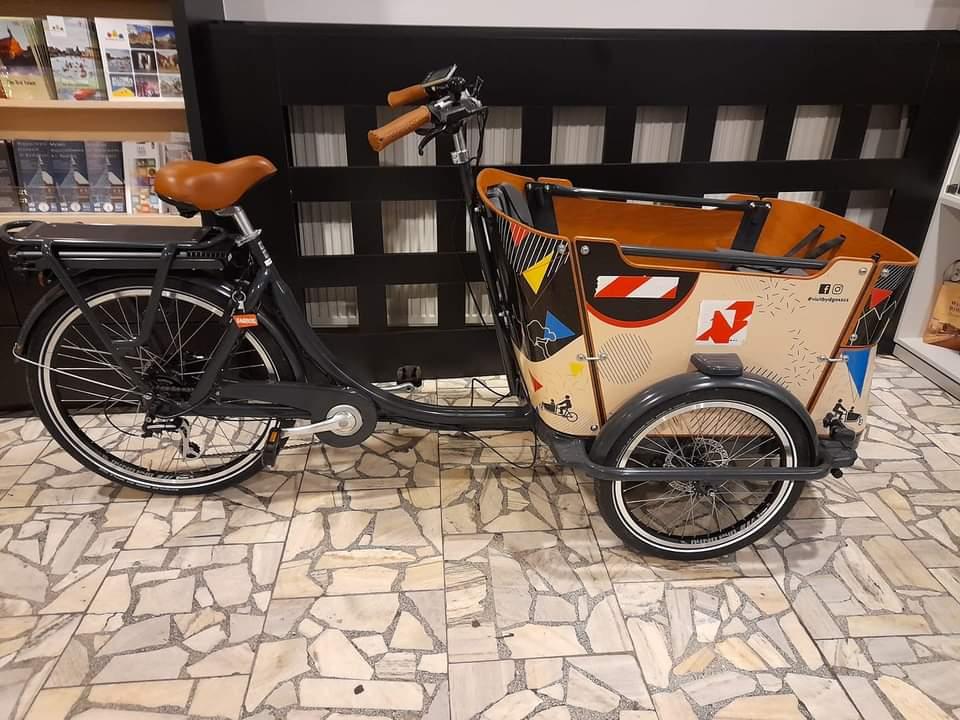 Pokaz rowerów cargo w Bydgoszczy