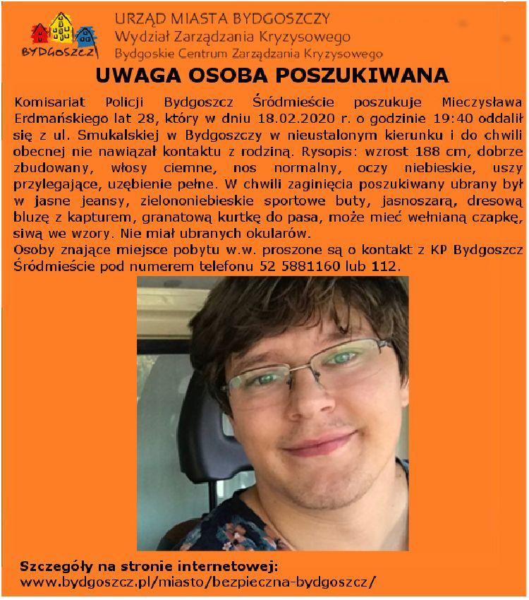 Pomóż w poszukiwaniach Mieczysława Erdmańskiego