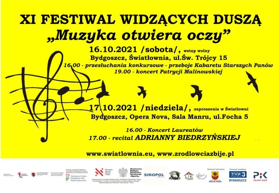 """Przed nami XI Festiwal Widzących Duszą """"Muzyka otwiera oczy"""""""