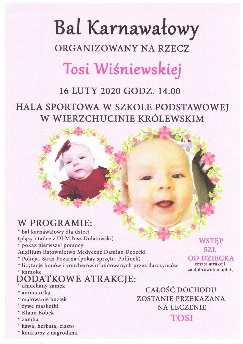 Przyjdź na Bal Charytatywny na rzecz Tosi Wiśniewskiej