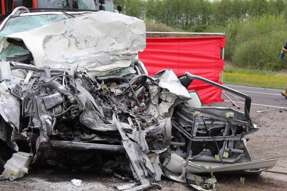 Śmiertelny wypadek na drodze K-62 w regionie [FOTO]