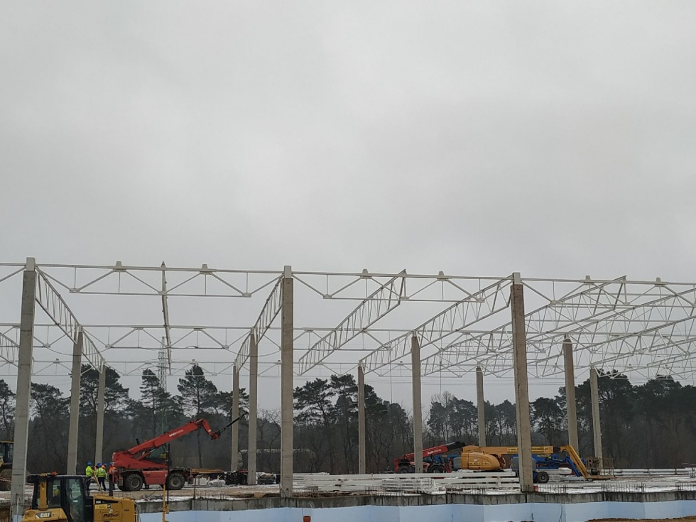 Trwa budowa hali F Waimea Logistic Park. Powierzchnie użytkowe są już wynajęte