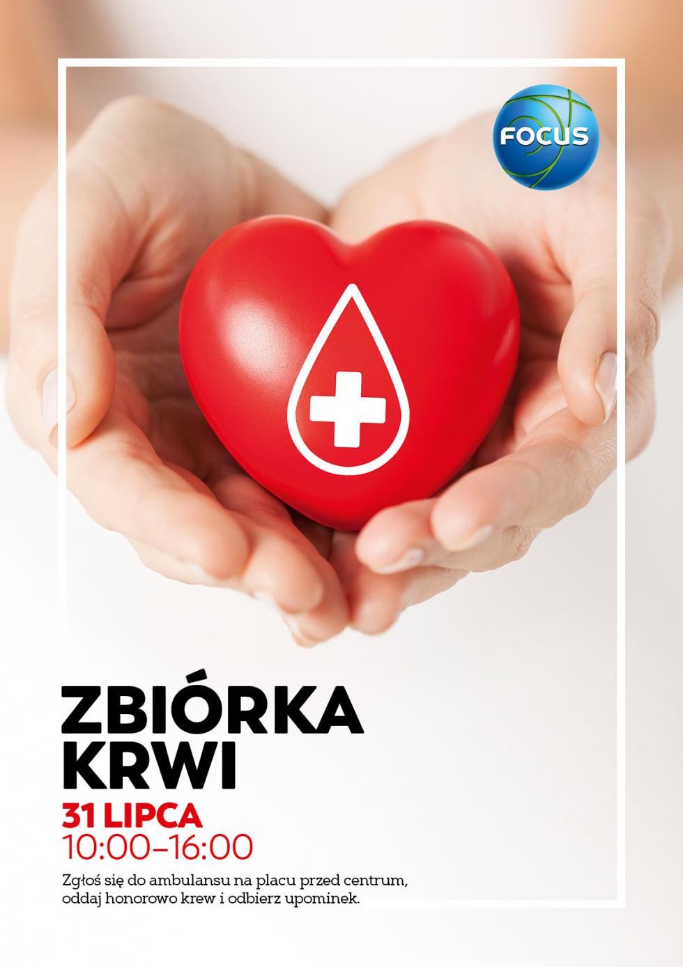 W sobotę przed Focusem będzie można oddać krew