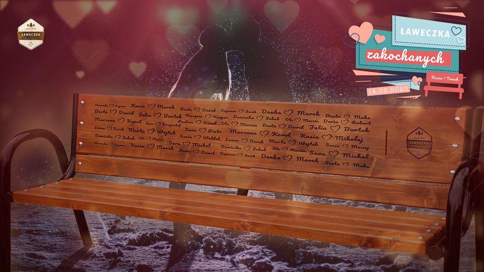 Walentynkowa ławeczka w Myślęcinku