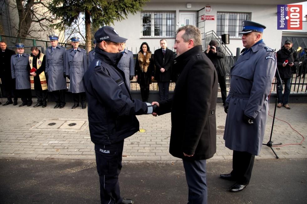 Wojewoda Kujawsko-Pomorski wziął udział w otwarciu nowego Posterunku Policji