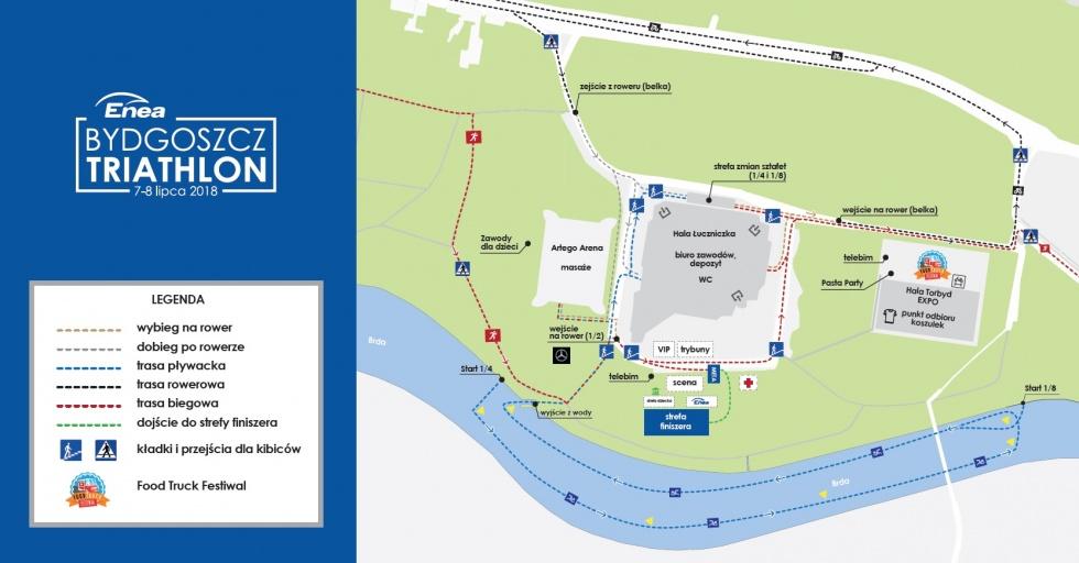 Zapoznaj się z trasą Enea Bydgoszcz Triathlon 2018