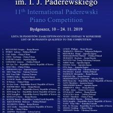 XI Międzynarodowy Konkurs Pianistyczny im. I. J. Paderewskiego