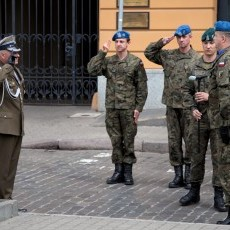 02.05.2018 - Dzień Flagi - Uroczyste przekazanie flagi państwowej kujawsko-pomorskim policjantom
